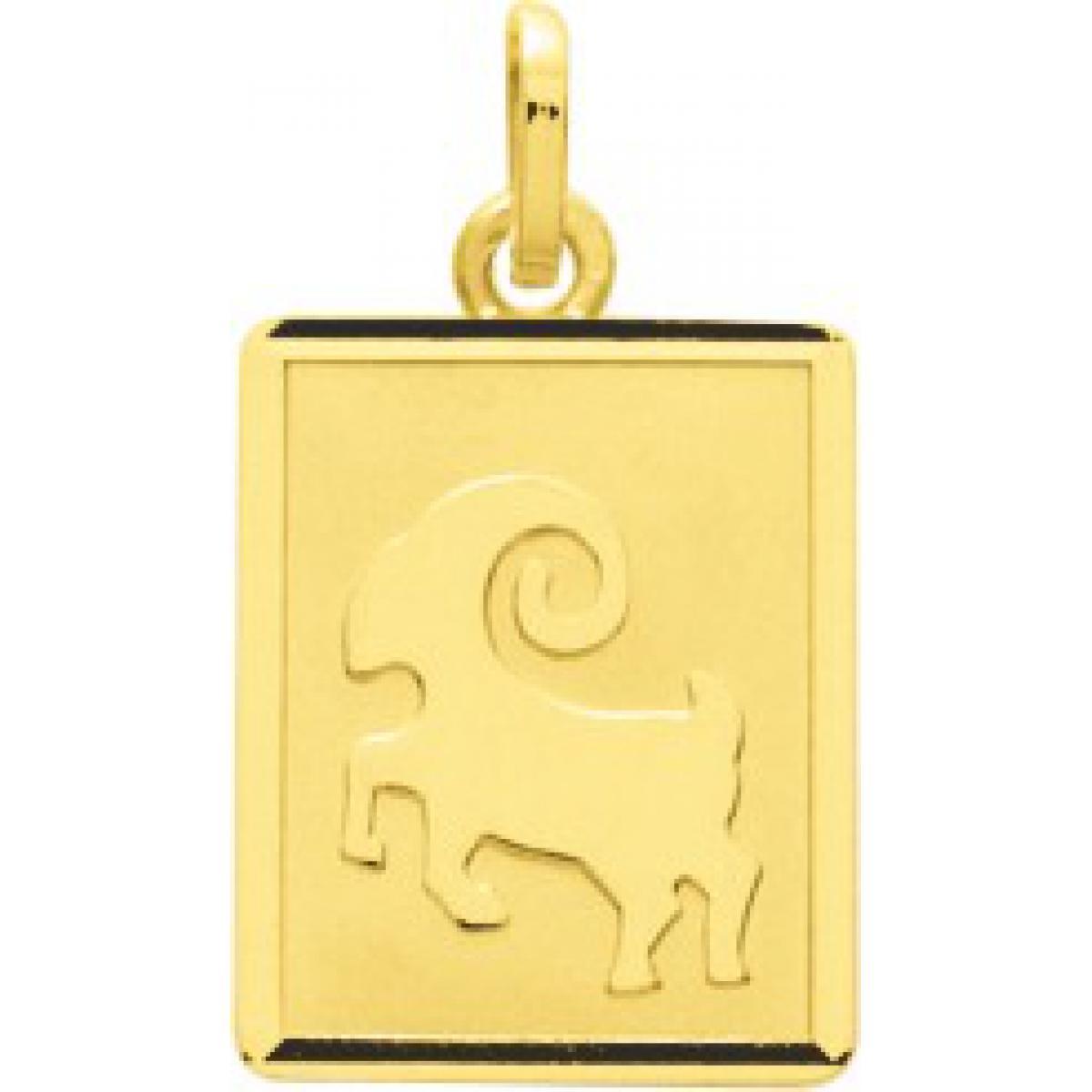 Médaille zodiaque bélier or 750/1000 jaune (18K)