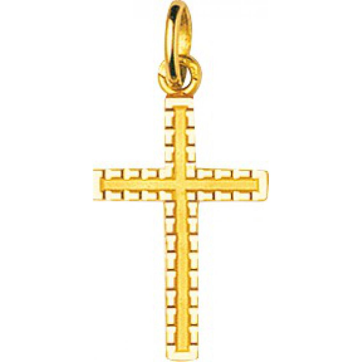 Pendentif croix or 750/1000 jaune (18K)