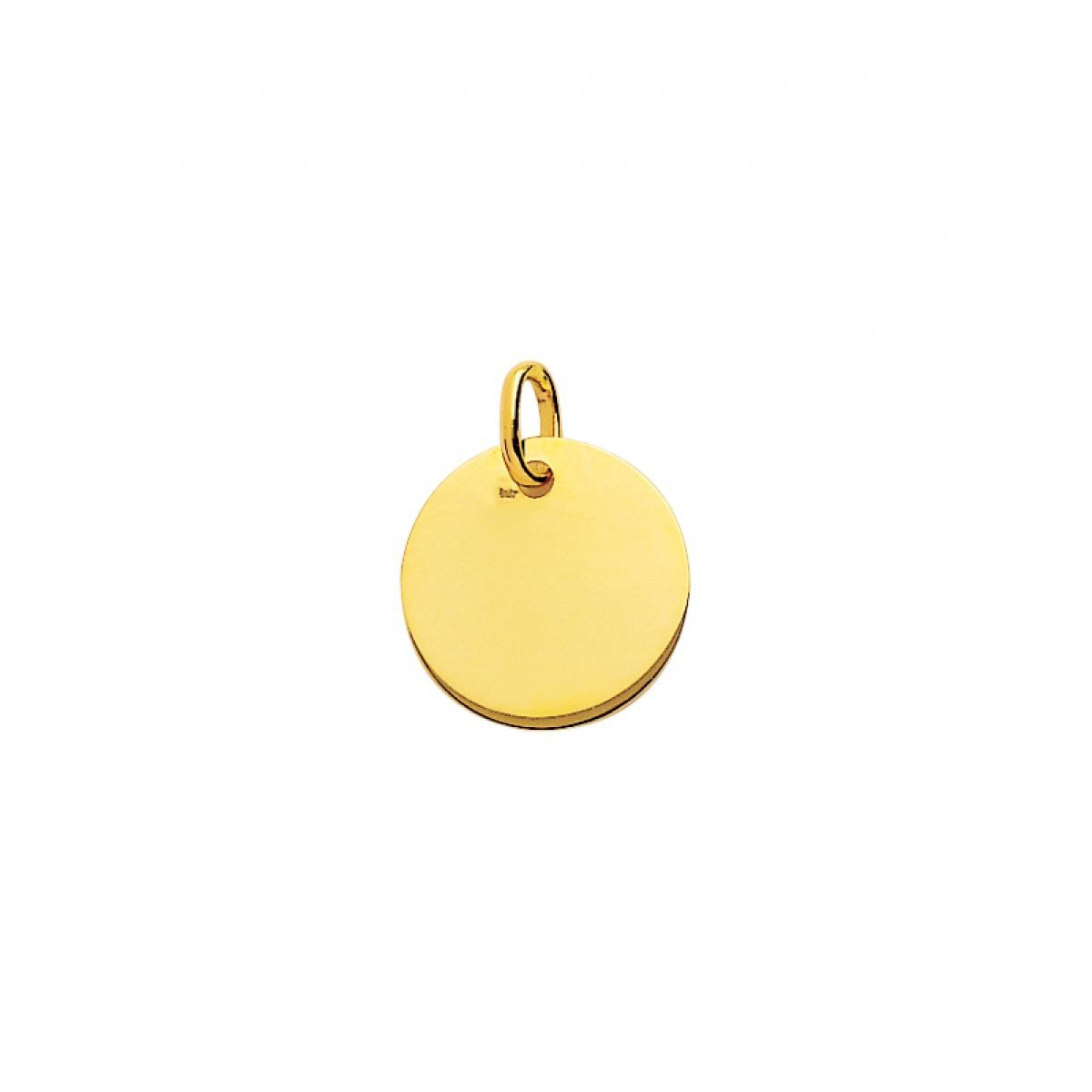 Plaque ronde or 750/1000 (18K)  jaune