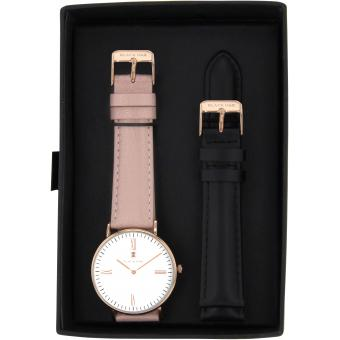Montre Black Oak BX5720RSET-006 - Montre Cuir Rose Femme