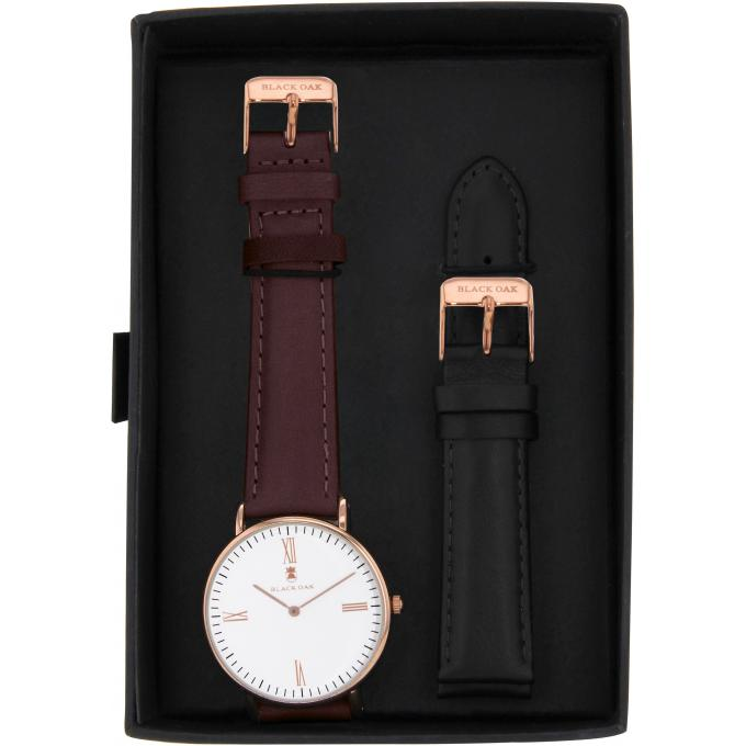 Montre Black Oak BX5720RSET-166 - Montre Cuir Marron Femme