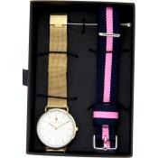 Black Oak - Montre Black Oak BX71008SET-002 - Montre Dorée Femme