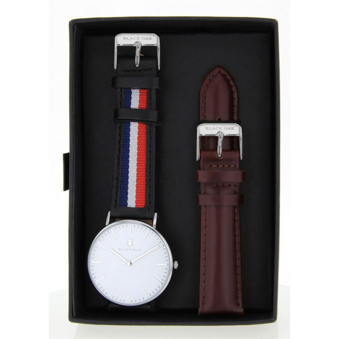 Montre Black Oak BX58904SET-138 - Montre Cuir bleu Homme