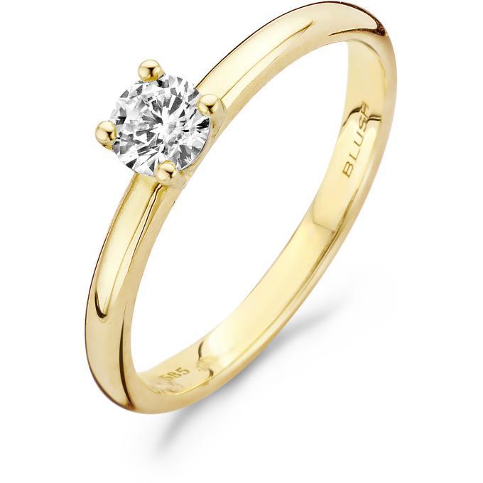 bague or blanc 5 anneaux