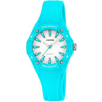 Montre Calypso K5675-2 - Montre Turquoise Ronde Fille