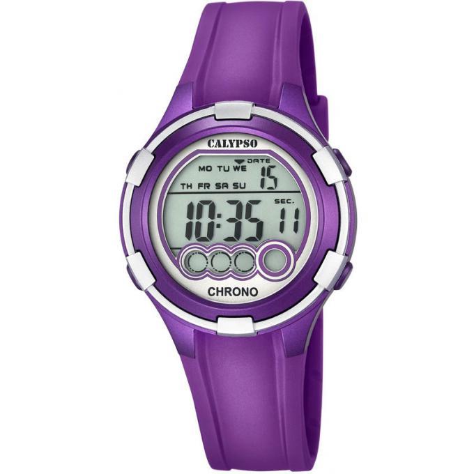 montre calypso epsilon k5692 5 montre chronographe violette fille sur bijourama montre pas. Black Bedroom Furniture Sets. Home Design Ideas