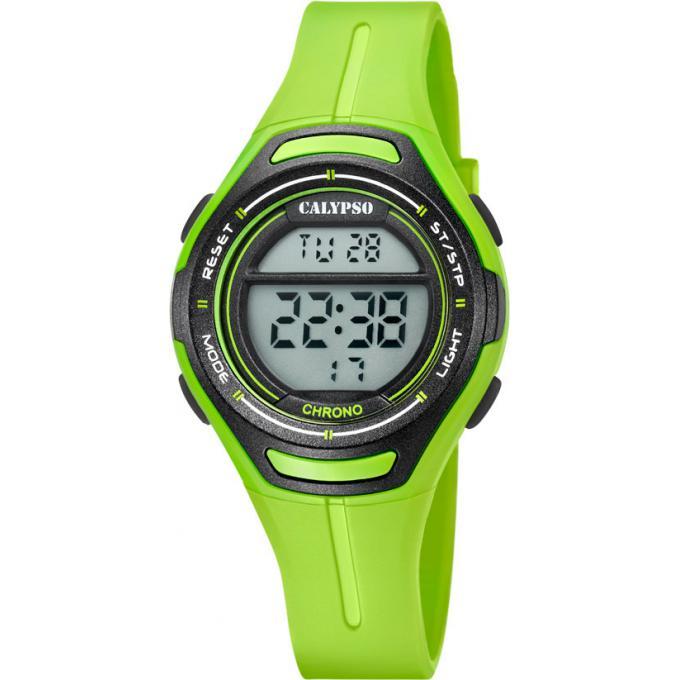 montre calypso k5727 6 montre verte chronographe enfant gar on sur bijourama montre pas cher. Black Bedroom Furniture Sets. Home Design Ideas