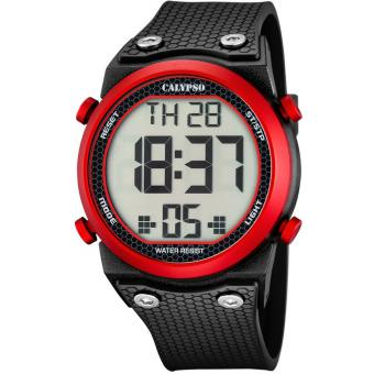 Montre Calypso EPSILON K5705-2 - Montre Dateur Rouge Homme