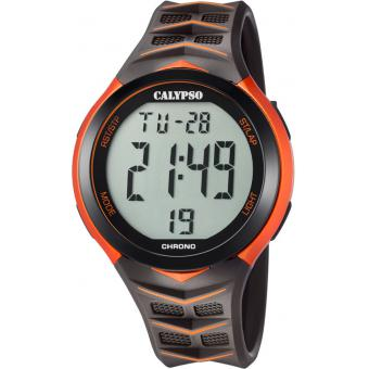 Montre Calypso K5730-6 - Montre Multifonctions Orange Homme