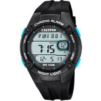 Calypso - Montre Calypso Digital For Man K5765-1 - Montre Noire Homme