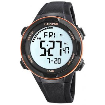 Calypso - Montre Calypso Digital For Man K5780-6 - Montre Noire Homme
