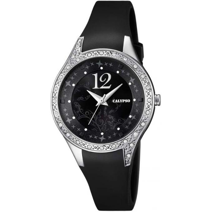 montre calypso k5660 4 montre silicone noire strass femme sur bijourama montre femme pas. Black Bedroom Furniture Sets. Home Design Ideas