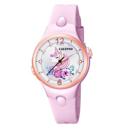 Montre Calypso K5783-2 - SWEET TIME Résine Rose Cadran Stylisé Fille