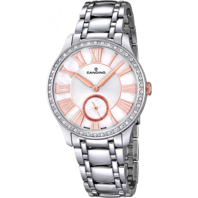 montre candino c4595 1 montre chronographe blanche femme sur bijourama montre femme pas cher. Black Bedroom Furniture Sets. Home Design Ideas