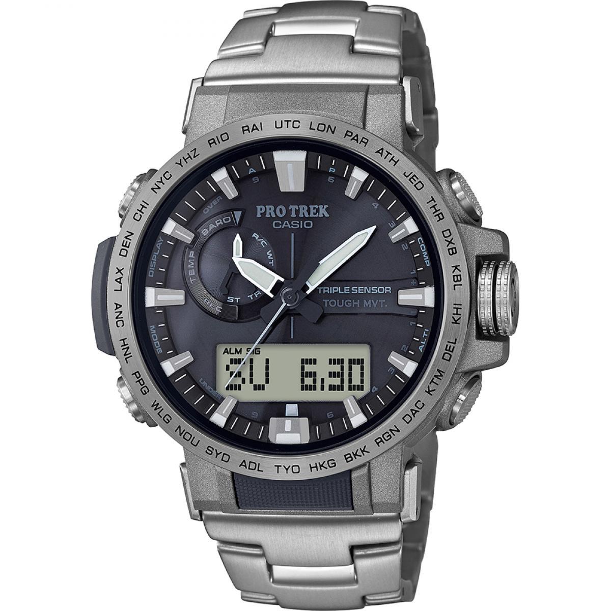 Montre Casio PRW 60T 7AER Montre Titane Chronographe Homme Plus d'infos