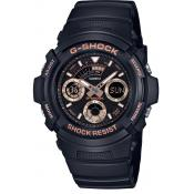 Casio - Montre Casio G-Shock Black & Gold AW-591GBX-1A4ER - Montre en Plastique Femme