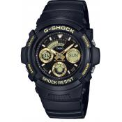 Casio - Montre Casio G-Shock Black & Gold AW-591GBX-1A9ER - Montre Noire Homme