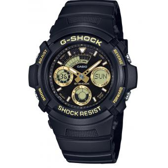Casio - Montre Casio G-Shock Black & Gold AW-591GBX-1A9ER - Montre Casio Femme