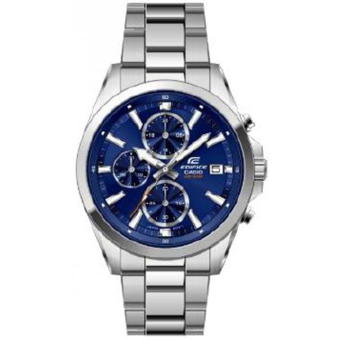 Montre 560d Casio Bleu D'infos 2avuef Efv Multifonction Acier Plus Cadran Homme Edifice cAR35jq4L