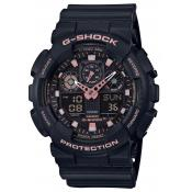 Casio - Montre Casio G-Shock Black & Gold GA-100GBX-1A4ER - Montre en Plastique Femme