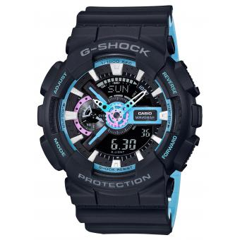 Casio - Montre Casio G-Shock 90' Rave Colors GA-110PC-1AER - Montre Casio Femme