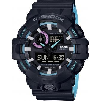 Casio - Montre Casio G-Shock 90' Rave Colors GA-700PC-1AER - Montre Casio Femme