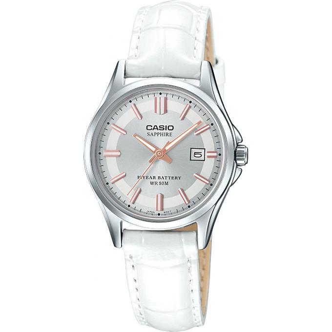 acheter en ligne f8bf3 df63e Montre Casio Collection LTS-100L-9AVEF - Montre Boitier Acier Bracelet Cuir  Femme Plus d'infos