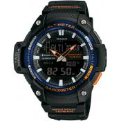 Montre Casio Collection SGW-450H-2BER - Montre Barromètre Noire Homme