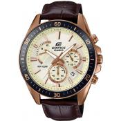 Montre Casio Edifice EFR-552GL-7AVUEF - Montre Chronographe Cuir Marron Homme
