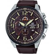 Casio - Montre Casio Edifice EFR-555BL-5AVUEF - Montre Homme Cuir