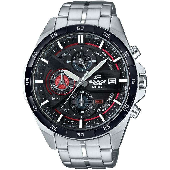 montre casio edifice efr 556db 1avuef montre chronographe noire acier homme sur bijourama. Black Bedroom Furniture Sets. Home Design Ideas
