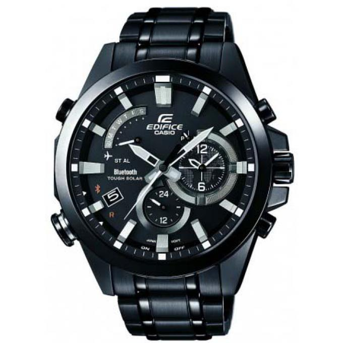montre casio eqb 510dc 1aer montre noire bluetooth solaire homme sur bijourama montre homme. Black Bedroom Furniture Sets. Home Design Ideas