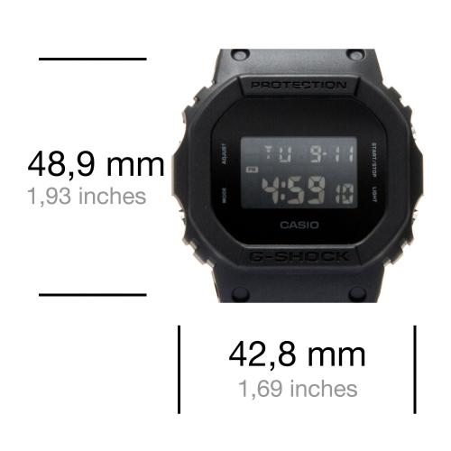 Casio - Montre Casio G-Shock DW-5600BB-1ER - Montre Rectangulaire