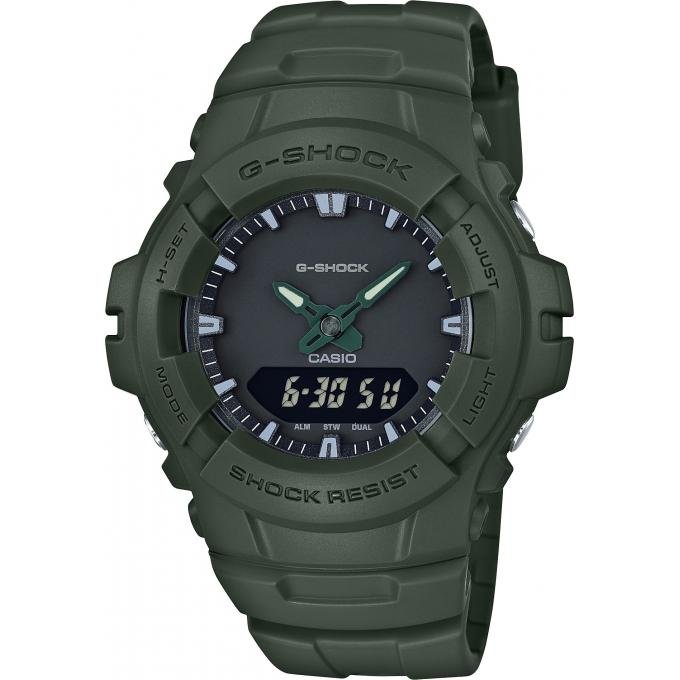 montre casio g shock g 100cu 3aer montre multifonctions r sine vert homme sur bijourama. Black Bedroom Furniture Sets. Home Design Ideas