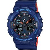Montre Casio G-SHOCK GA-100L-2AER - Montre G-Shock Bleue Homme