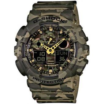 Casio - Montre Casio G-Shock GA-100CM-5AER - Montre Analogique