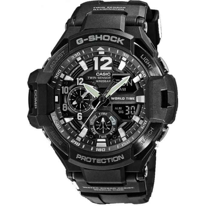 montre casio g shock g shock ga 1100 1aer montre ronde noire homme sur bijourama montre. Black Bedroom Furniture Sets. Home Design Ideas