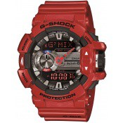 Montre Casio  Rouge Multifonction GMix GBA-400-4AER