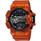 Montre Casio Résine Orange LED GBA-400-4BER