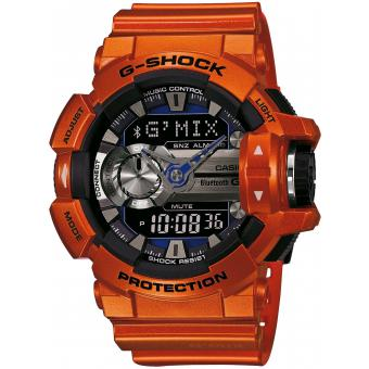 Montre Casio GBA-400-4BER - Montre Résine Orange LED Homme