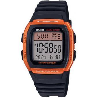 Montre Casio W 96H 4A2VEF VINTAGE Boitier Orange Affichage