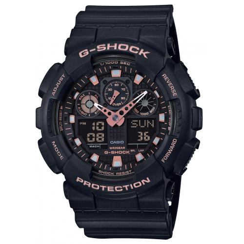 Casio - Montre Casio G-Shock Black & Gold GA-100GBX-1A4ER - Montre Casio Femme