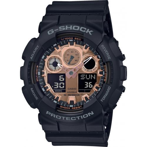 Casio - Montre Casio G-Shock GA-100MMC-1AER - Montre Chronographe Homme