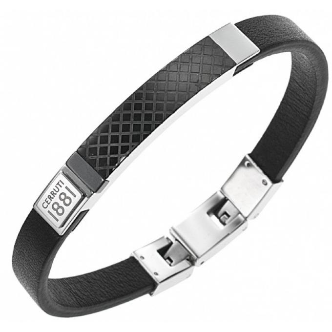 395be2085df Bracelet Cerruti 1881 RH51391NN - Bracelet Plaque Noire Homme sur ...
