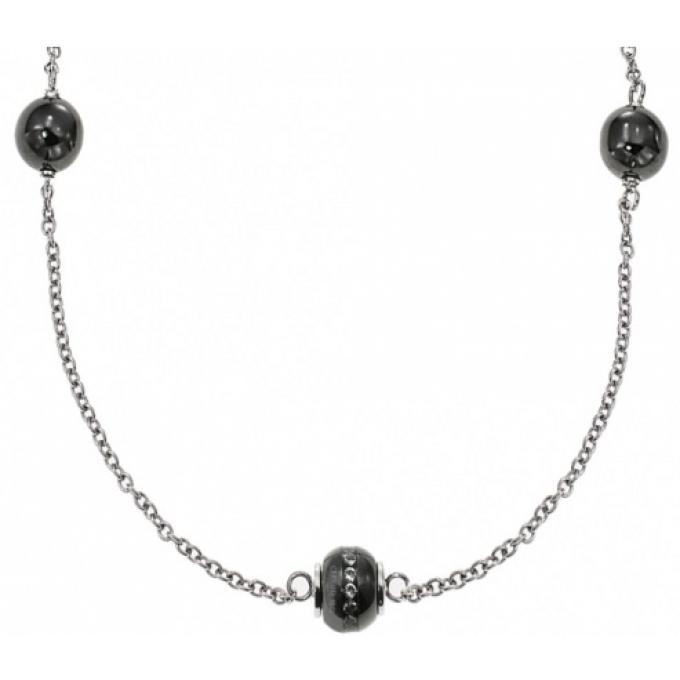 Collier Cerruti R41374nz Collier Perle Ceramique Noir Sur
