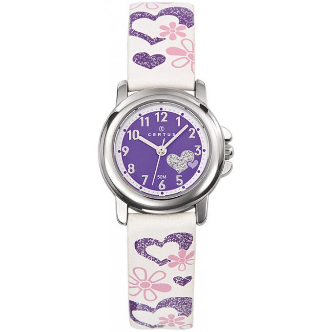 montre certus 647457 montre cuir violette fille sur. Black Bedroom Furniture Sets. Home Design Ideas