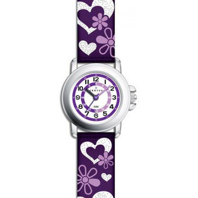 montre certus 647458 montre violette cuir fille sur. Black Bedroom Furniture Sets. Home Design Ideas
