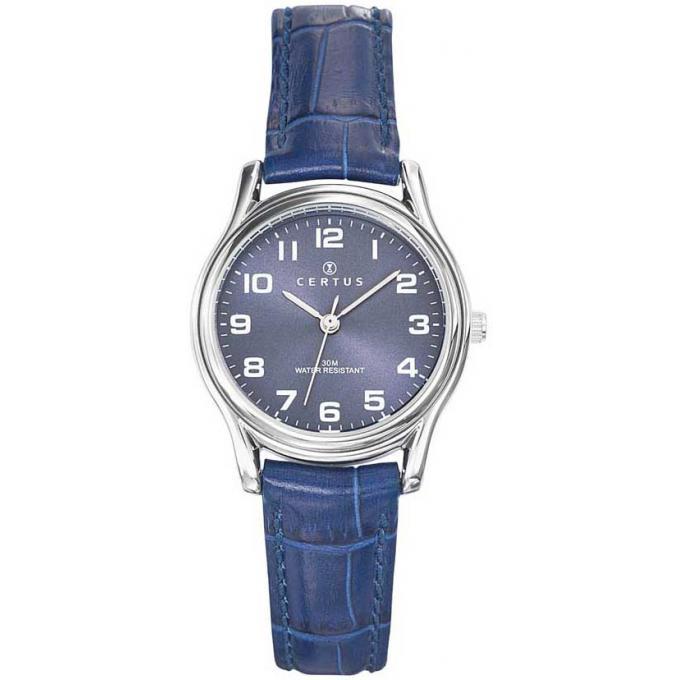 montre certus 644376 montre acier bleue femme sur bijourama montre femme pas cher en ligne. Black Bedroom Furniture Sets. Home Design Ideas