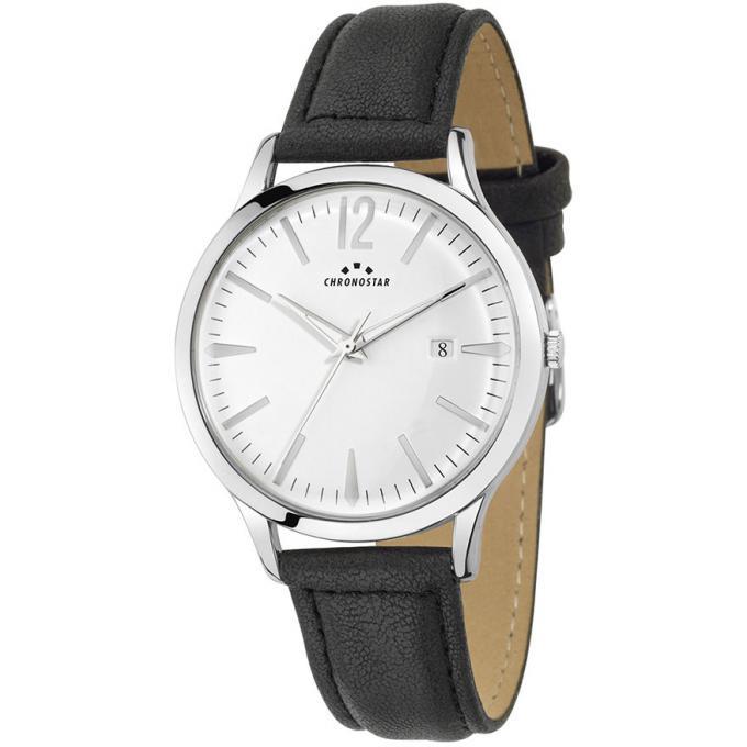 Montre Chronostar R3751256005 - Montre Dateur Cadran Blanc Homme