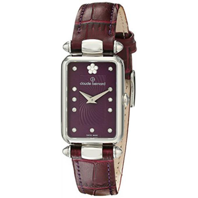 montre suisse claude bernard 20502 3 viop2 montre violet bracelet cuir femme sur bijourama. Black Bedroom Furniture Sets. Home Design Ideas